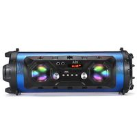 ELEGTANT Tragbar bluetooth Lautsprecher 25W Musikbox Subwoofer LED bluetooth, AUX, Long Standby, TF-Karte, FM-Radio Blau
