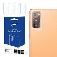 [ 4er Pack ] 3MK FlexibleGlass Lens für Samsung Galaxy S20 FE (G780F) Hybridglas Kameraglas Linse Schutzglas