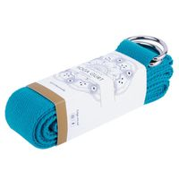 CAPITAL SPORT Siddha Yogagürtel Essential Trainingsgurt Yogagurt , 250 x 3,8 cm (BxT) , 100 % Baumwolle , robust , reißfest , extralang , aufrollbar , mit elastischem Band , petrol