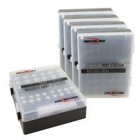 ANSMANN Batteriebox inkl. Akkutester für 48 Stk. AAA, AA & 9V Block Akkus / Batterien - 5 Stück