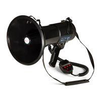 auna MEGA080USB Megaphon MP3-Player , 80W Leistung , Reichweite: 700m , USB-Rec-Funktion , wasserfest , Tragegurt , schwarz