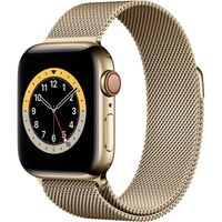 Apple Watch Series 6 GPS + Cell 40mm Gold Steel Gold Milanese