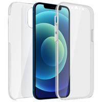Schutzhülle für Apple iPhone 12 Mini, Vorder- + Rückseite – Transparent