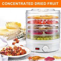 Dörrgerät, Dörrautomat, Obst-, Fleisch- und Früchte-Trockner, 5 Etagen, stapelbar, 350 W, einstellbare Temperatur, Umluftbetrieb,  Weiß