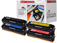 4er Pack Toner patrone für Canon I-Sensys LBP7100 , LBP7110 , MF8230 , MF8280 CRG731 (2.400 seiten schwarz , je farbe 1.500 seiten C,Y,M)