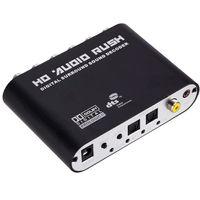 5.1 Digitaler Audio Decoder, Audiowandler, Digitaler Surround Sound Konverter Wandler, Neuer Optischer  Koaxial Dolby AC3 DTS Stereo