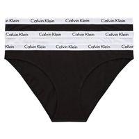 Calvin Klein Damen Slips Bikini 3er Pack Black/White/Black XS