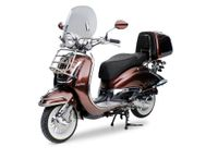 Retro Roller Motorroller EasyCruiser braun 50 ccm