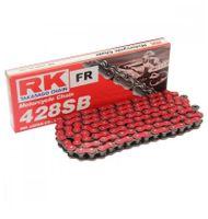 RK Kette SB 428 Teilung 132 Glieder rot mit Clipschloss