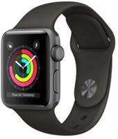 Apple Watch Series 3 Aluminium Space-Grey Black, Sportarmband, MTF32ZD/A, 42mm
