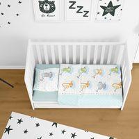 Bettw/äsche Kinder Baby Bettgarnitur 100x135 aus Reiner 100/% Baumwolle in Beige mit Pandab/ären