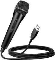 USB Mikrofon für Nintendo Switch / Wii U / PS4 / Xbox One / Xbox 360 / PC, 3M / 10ft Universal-USB-Mikrofon Kompatibel mit Rockband, Guitar Hero und Karaoke-Gesangsspielen