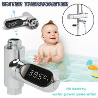 LED-Anzeige Celsius Wasserduschthermometer Selbsterzeugender Strom CCS200313004