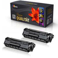 2x Alternative XXL Tonerkartuschen für HP LaserJet P1002 W P1002 WL P 1100 Series P 1101 P 1102 P1102 w P 1103 P 1104 P 1104 w P 1106 CE 285A HP-85A HP 85A Schwarz - Doppelpack