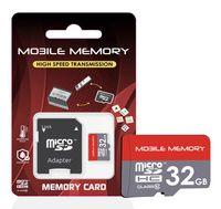 microSD Speicherkarte für Smartphone, Kamera, z.B. Samsung Galaxy Speicherkarte SD Karte, Speicherkapazität: 32GB