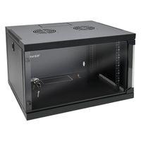 HMF 65406-02 Serverschrank 19 Zoll, 6 HE, 54 x 44,5 x 35 cm, Schwarz