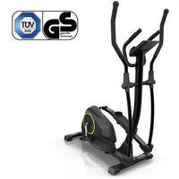 Klarfit Epsylon Fahrrad-Heimtrainer -Riemenantrieb mit SilentBelt System, 12 kg Schwungmasse,Pulsmesser, HiLevel-Widerstand, MagResist-Funktion,Tablet-Halterung, geräuscharm, Stahlrahmen