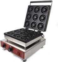 220v 9 Stück 9 cm Elektrischer Donutmaker für kommerzielle Verwendung, Donut Baker/Maker, Donutmaschinen