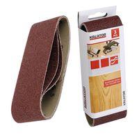 KREATOR Holz Schleifband für Bandschleifer - 3 Stück - Körnung G120 - 6,5 x 41 cm - G120   65 x 410 mm