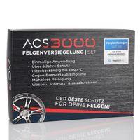 ACS3000 Felgenversiegelung Set. 5 Jahre Hochglanz und Schutz vor Salz, Bremsstaub und Verschmutzung. Einmalige Anwendung. Set mit Vorreiniger, Handschuhen, Tüchern und Felgenversiegelung (50 ml)