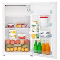 PKM Kühlschrank mit Kaltlagerfach Standkühlschrank weiß 92 Liter  47,5cm