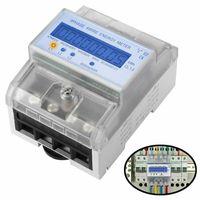 LCD Drehstromzähler Stromzähler MID Digital Drehstromzähler Geeicht Für DIN Hutschiene Unterstromzähler Drehstromzähler
