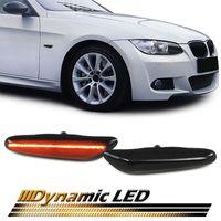 Dynamische LED Seitenblinker Schwarz für BMW 1er E81 E87 3er E90 E92 E93 X1 E84