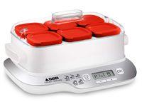 Seb YG660100 Multi Delices Express Joghurtmaschine 6 Töpfe 600W Rot und Weiß