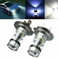 1 Paar H7-100W LED Scheinwerfer Auto Nebel Schwanz Fahrlicht Lampen Birnen 6000K Weiß