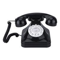 Retro Schnurgebundenes Telefon Nostalgietelefon mit Wählscheibe und Metallklingel