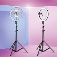 "Profi 10"" LED Ringlicht Dimmbar Ringleuchte Lampe Fotolampe Selfie USB+1,2m Stativ 120 Grad"