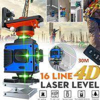 4D Laser Level 16 Lines 360° Selbstnivellierend Kreuzlinienlaser m.Fernbedienung