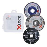 Bosch Professional X-LOCK 125 mm Trenn- & Fächerschleifscheibe, Carbide Multi Wheel im Set