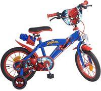 Disney Kinderfahrräder Jungen Spider-Man 14 Zoll 23,5 cm Jungen Felgenbremse Rot/Blau