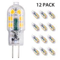 Tomshine 12 Stücke Stiftsockellampe G4 3W LED Lampen, Warmweiß 12V 3000K, G4 LED Birnen Leuchtmittel Glühbirnen, AC/DC 12V Kein Flackern Nicht Dimmbar