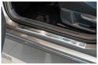 Edelstahl Exclusive Einstiegsleisten für VW Passat B8 3G Variant Kombi Bj.2014-, Farbe:Silber