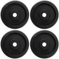 ScSPORTS® 2. Wahl 20 kg Hantelscheibenset 4 x5 kg Guss Scheiben ohne Logo Hantelscheiben Gusseisen Set