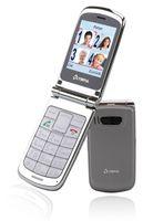 Olympia Senioren Komfort Mobiltelefon, Dual SIM-Funktion, Großtasten, Farbe: Silber