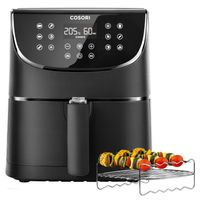 Cosori Premium 5,5-Liter Heißluftfritteuse mit Spießregalsatz