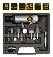 Druckluft Stabschleifer Schnellschleifer Set 3 mm 6 mm Spann Bohrfutter Präzisionsschleifgerät 13 Tlg.