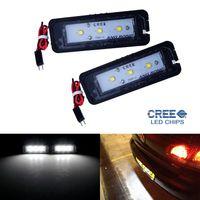 Paar LED Kennzeichenbeleuchtung Lampe für VW Golf Passat Polo Skoda Superb SEAT Leon