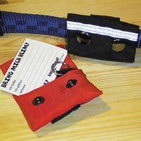 Nylon - Adresstasche schwarz Adresshülse Hundehalsband