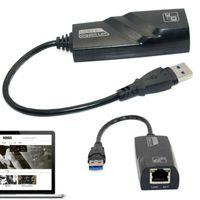 USB 3.0 auf RJ45 Adapter 10/100/1000 Gigabit Ethernet LAN Netzwerkadapter Laptop PC Kompatibel mit Mac OS X 10.6+, Windows 10/8/7 / Vista / XP, Linux