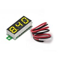 1 Stück LED-Anzeige Voltmeter Gelb 30x12x8,5 mm