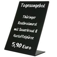 Tischaufsteller Oban A5 (148x210 mm) PVC Kreidetafel Preisaufsteller