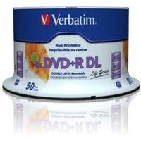 Verbatim Beschreibbare DVD - DVD+R Rohling - 8,50 GB - 8x Schreibgeschwindigkeit - 50er Spindel - 120mm - Double Layer Schichten - Druckbar - Tintenstrahl-bedruckbar - 4 Stunde(n) Maximale Aufnahmezeit
