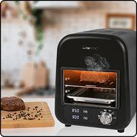 Clatronic EBG 3760 Elektro Beef-Grill, keramischer Infrarot- Hochleistungsbrenner mit 1600 Watt, perfekte Steakergebnisse in unter 45 Sekunden, 5 elektrische Grillprogramme, LED-Display, In- und Outdoor schwarz
