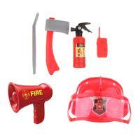 1 Set Kunststoff Megaphon Lautsprecher Feuermann Helm Spielzeug für Kinder Jungen