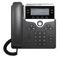 Cisco 7821 IP-Telefon Schwarz, Silber Kabelgebundenes Mobilteil 2 Zeilen