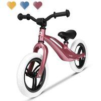 Lionelo Bart Laufrad Magnesiumlegierung Kinderlaufrad Roller Kinder Fahrrad TOP Rosa